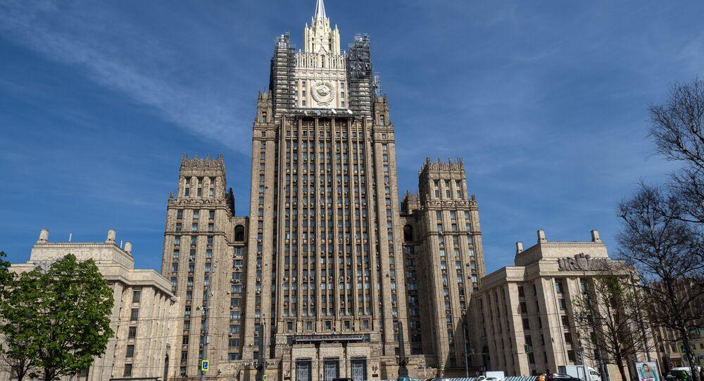 Prédio do Ministério das Relações Exteriores da Rússia, em Moscou.