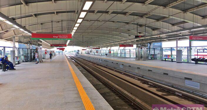 A linha 13 em Guarulhos, São Paulo