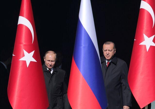 Vladímir Putin e Recep Tayyip Erdogan