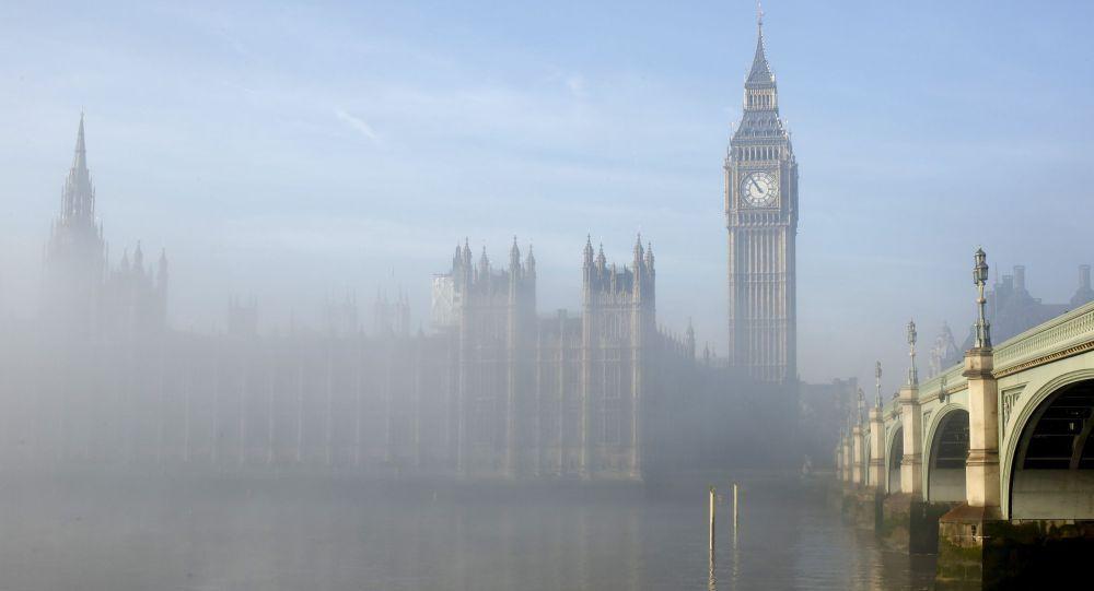 Nevoeiro no centro de Londres