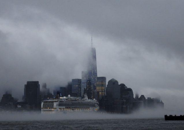 Nova York coberta de neblina