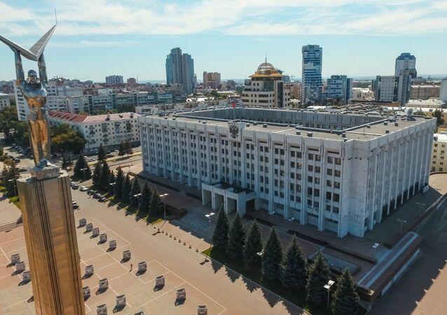 Cidade russa de Samara, foto de arquivo