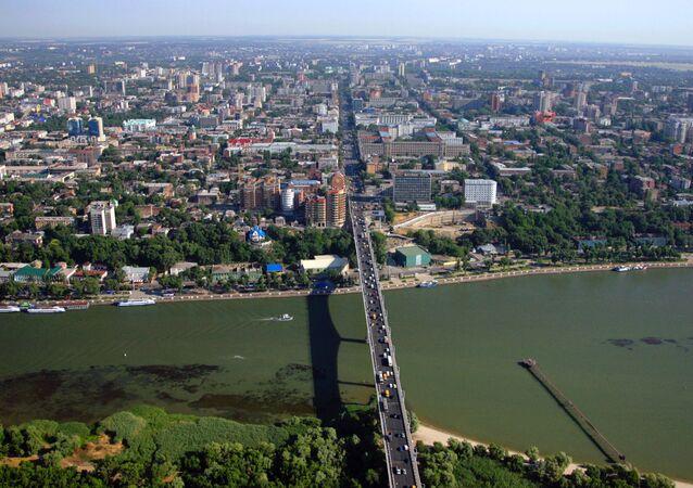 Cidade russa de Rostov-no-Don, foto de arquivo