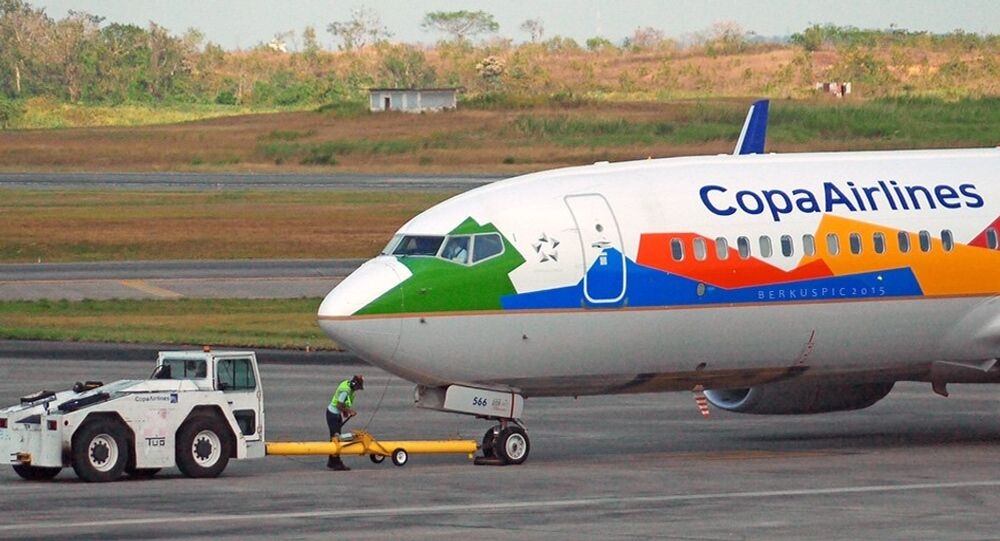 Avião da empresa Copa Airlines