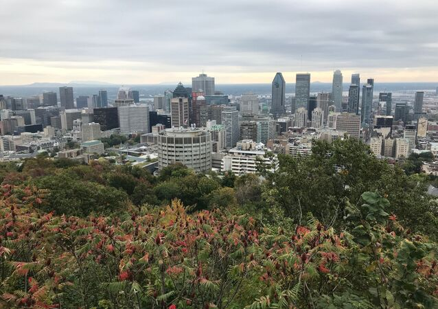 Vista geral da cidade de Montreal, Canadá, 7 de outubro de 2010