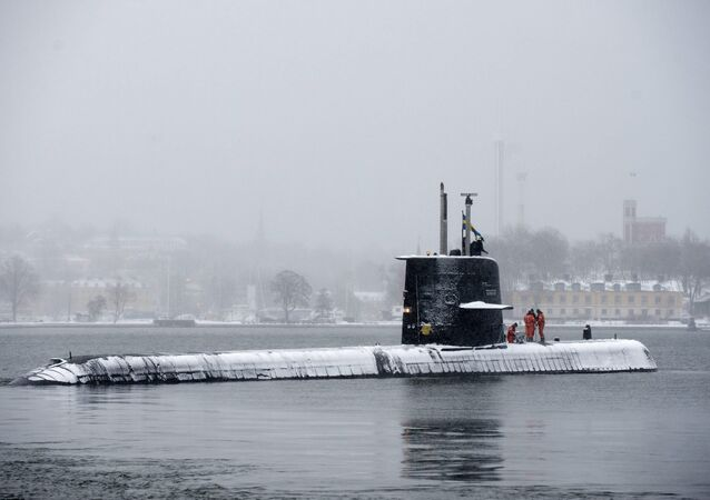 Submarino sueco HMS Halland (foto de arquivo)
