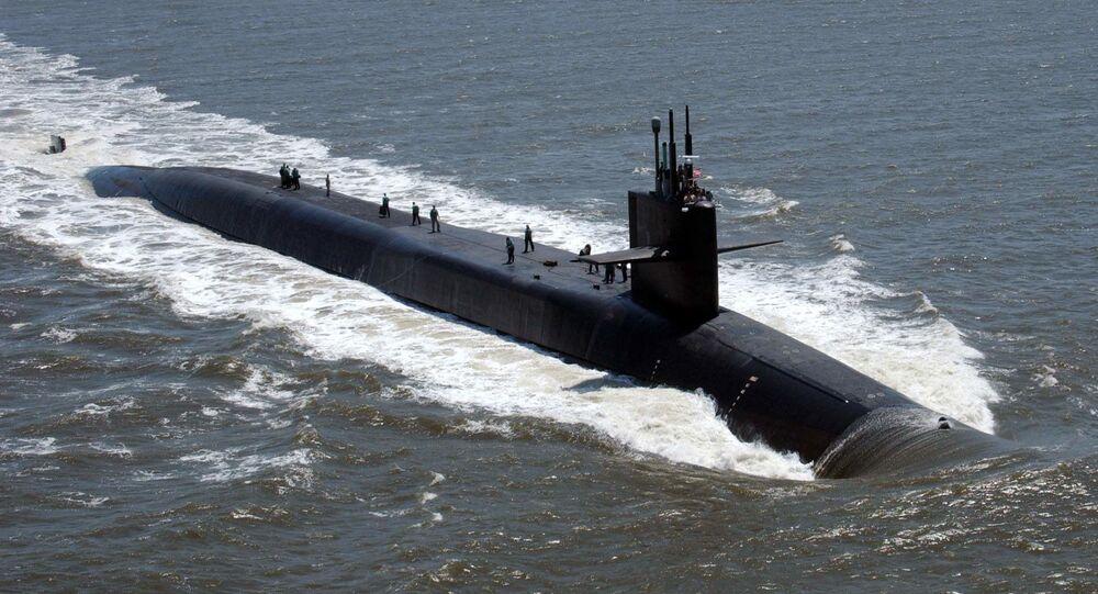Submarino atômico USS Florida (foto de arquivo)