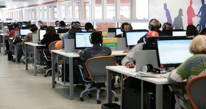 Computadores disponíveis no piso superior