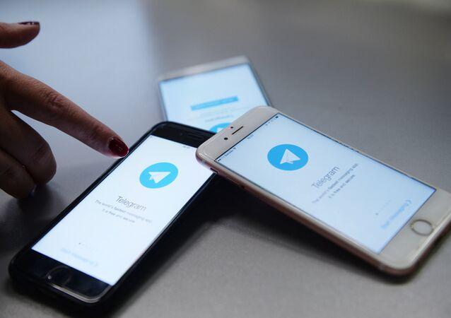 Aplicativo Telegram instalado nos smartphones