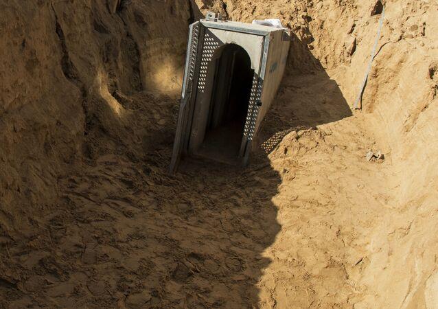 Túnel em Gaza, Israel, 18 de janeiro de 2018