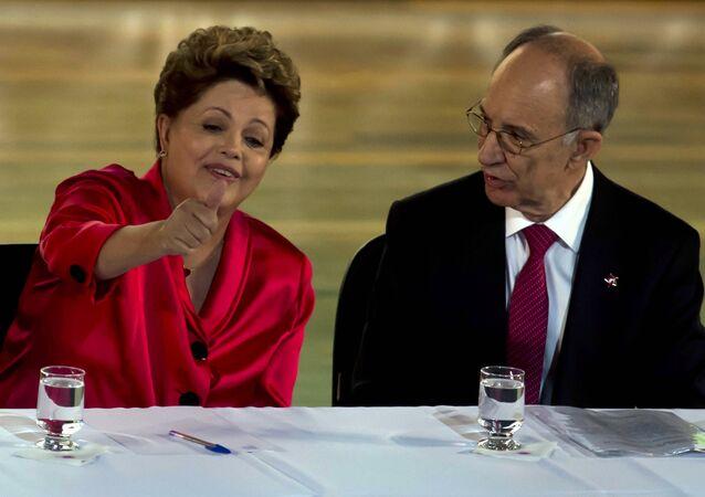 Rui Falcão e Dilma Rousseff