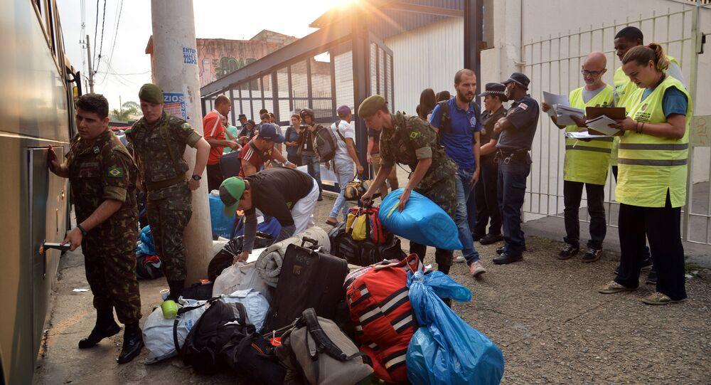 Chegada de refugiados venezuelanos ao Centro Temporário de Acolhimento de São Mateus, zona leste de São Paulo