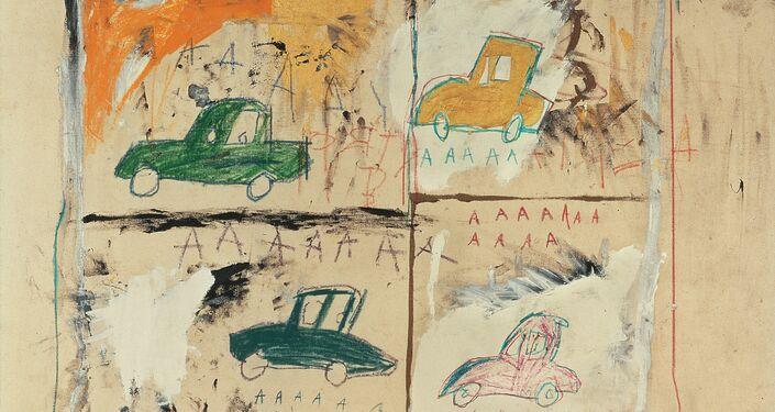 Carros Antigos,1981/Jean-Michel Basquiat (1960-1988)/