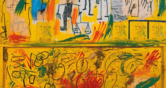 Sem título (Penas e Alcatrão Amarelo),1982/Jean-Michel Basquiat (1960-1988)