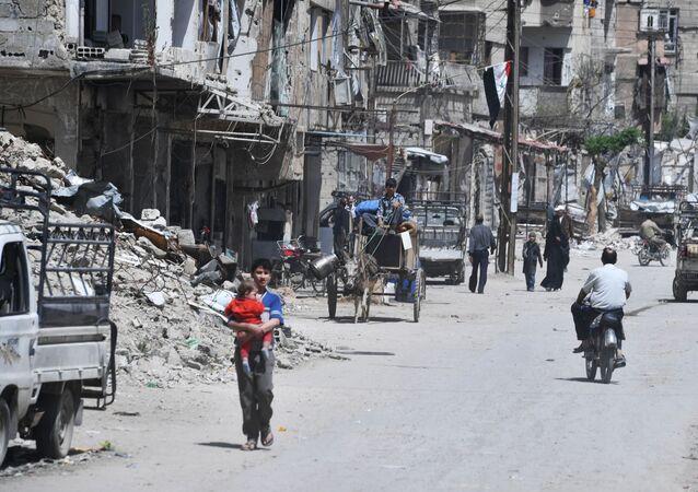 Cidade síria de Douma, nos arredores de Damasco