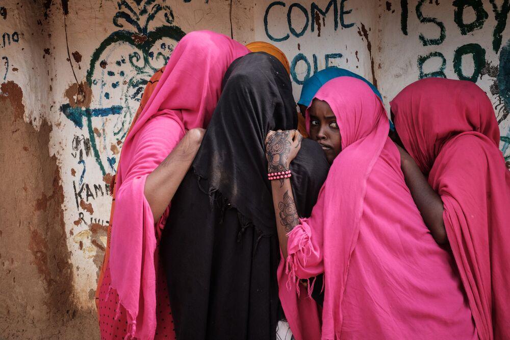 Mulheres somalis no campo de refugiados Dadaab no Quênia.