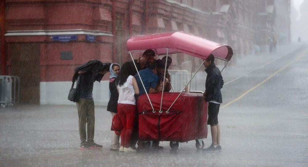 Chuva em Moscou (arquivo)