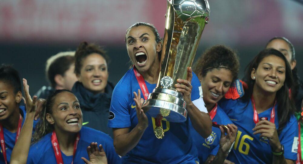 Seleção Brasileira Feminina campeã da Copa América do Chile. Lucas Figueiredo/CBF
