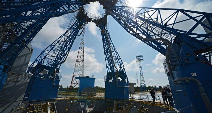 A plataforma de lançamento no Centro Espacial Vostochny