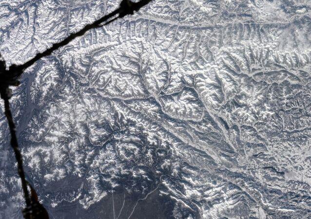 Foto dos Alpes tirada a partir do espaço pelo cosmonauta russo Anton Shkaplerov (imagem referencial)