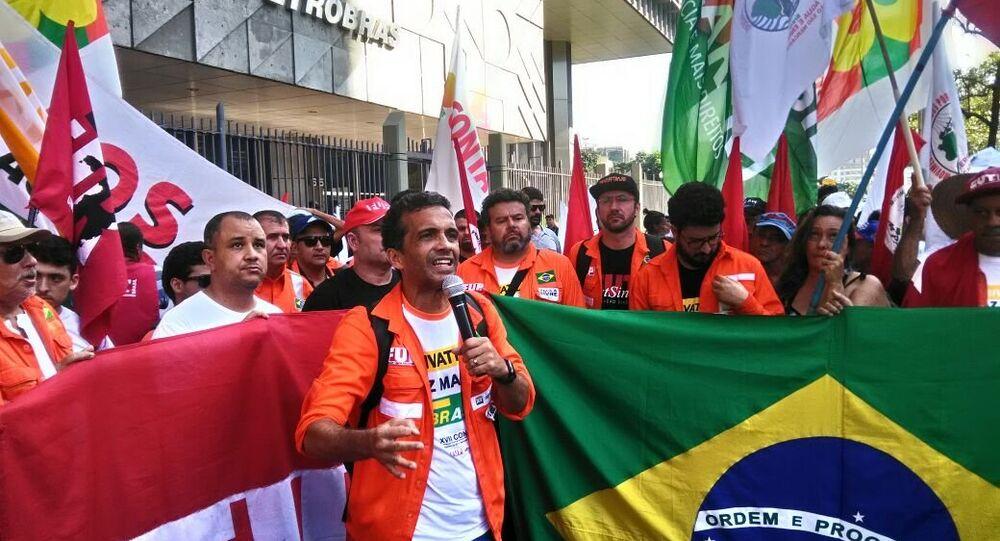 José Maria Rangel, coordenador geral da Federação Única dos Petroleiros (FUP)