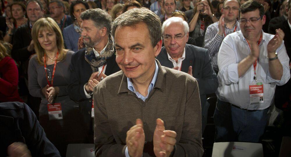 Ex-primeiro ministro da Espanha, José Luis Rodriguez Zapatero