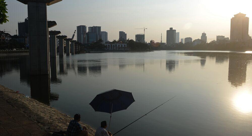 A vista para Hanoi