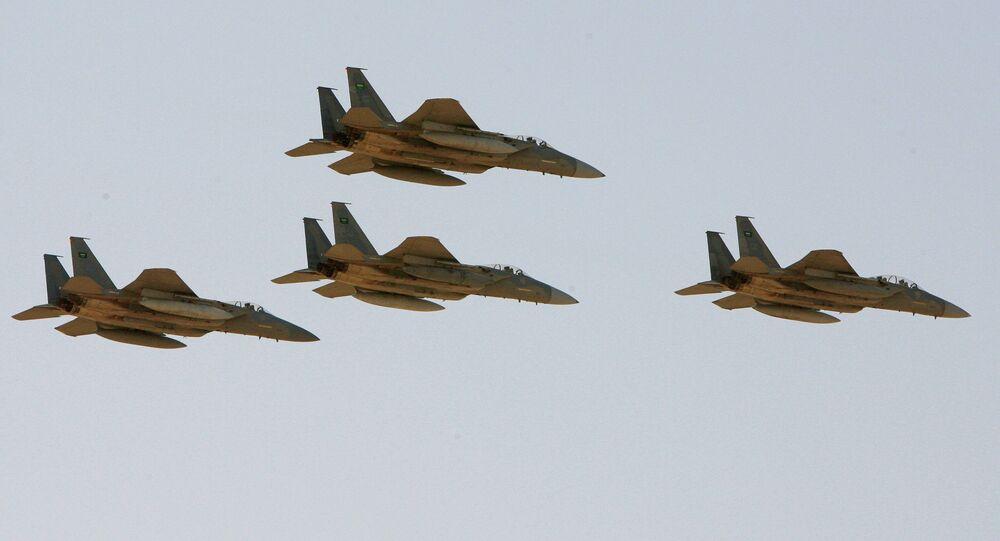 Caças F-15 da Força Aérea da Arábia Saudita (arquivo)