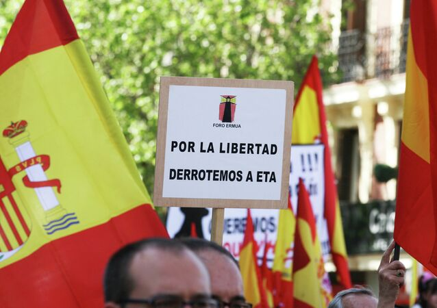 Manifestação das vítimas do terrorismo em Madri, Espanha