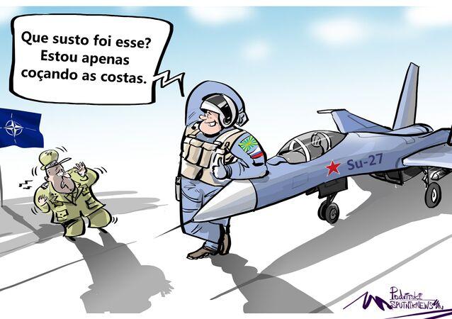 Caça russo deixa OTAN bem tremelica