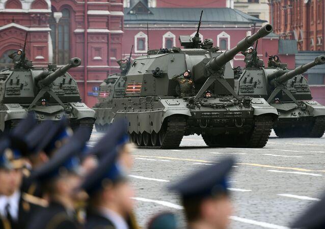 Ensaio geral do desfile da Vitória na Praça Vermelha