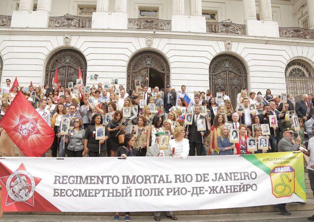 Regimento Imortal no Centro do Rio de Janeiro, na Câmara do Vereadores, em 9 de maio de 2018