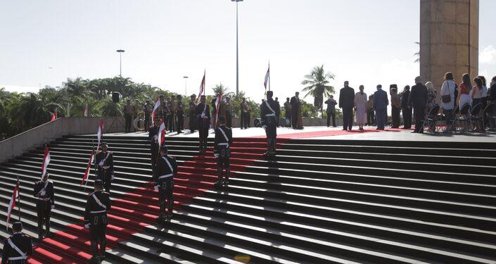 Cerimônia solene em homenagem aos heróis da Segunda Guerra Mundial aconteceu no Monumento aos Pracinhas, no Rio de Janeiro