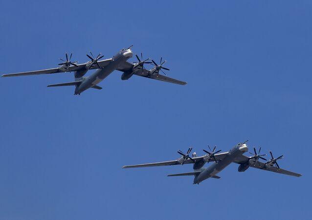 Bombardeiros estratégicos russos Tu-95MS