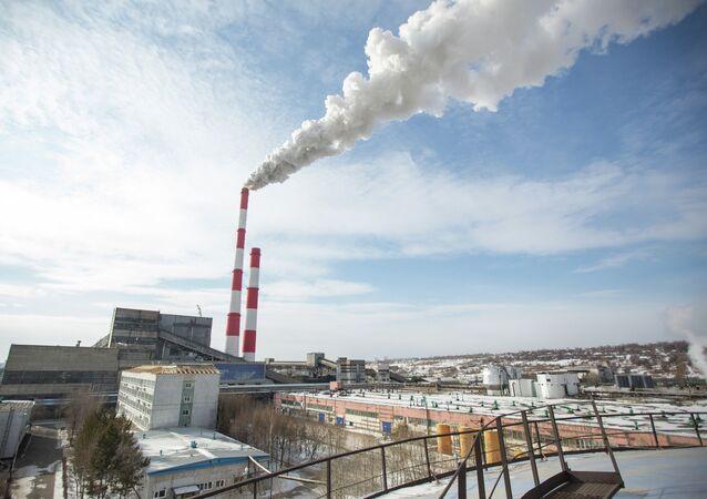 Imagem ilustrativa de uma usina termelétrica