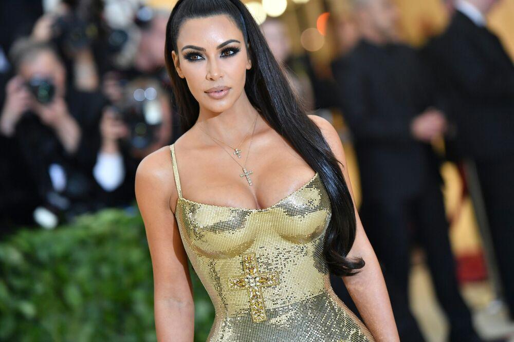 Kim Kardashian chega ao evento 2018 Met Gala, em Nova York, em 7 de maio de 2018