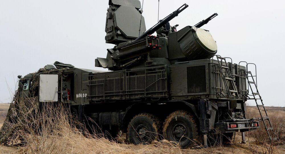 Sistemas de defesa antiaérea Pantsir-S1