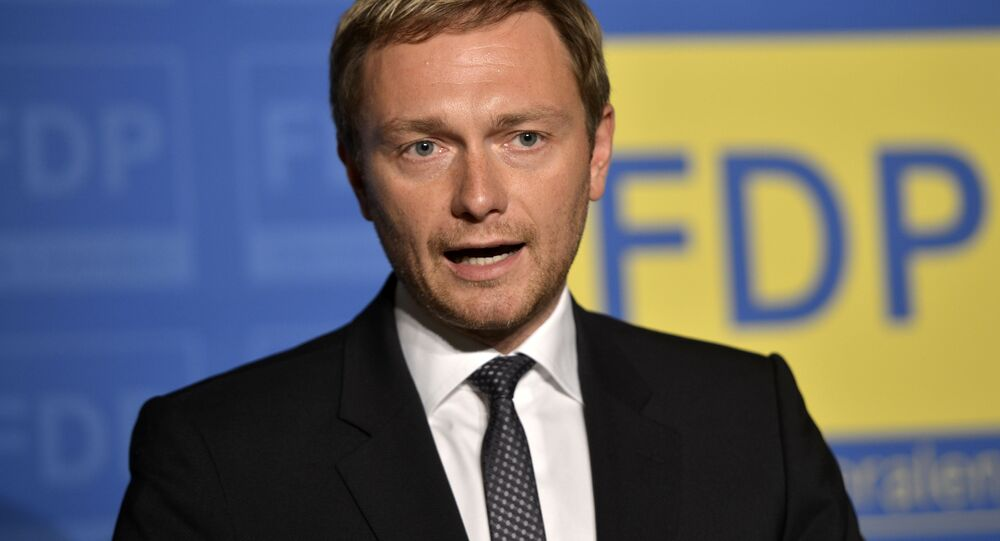 Christian Lindner of the Free Democratic party FDP