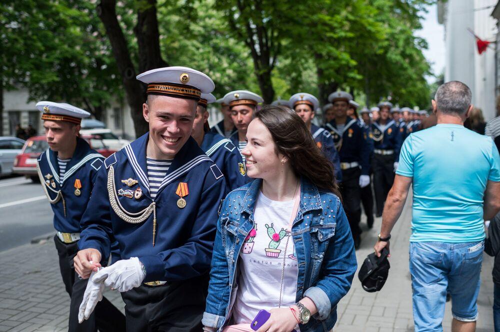 Marinheiros da Frota do Mar Negro em Sevastopol