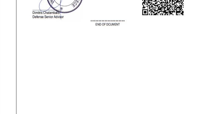 Carta da International Armour, datada de 2015, que vazou para Sputnik