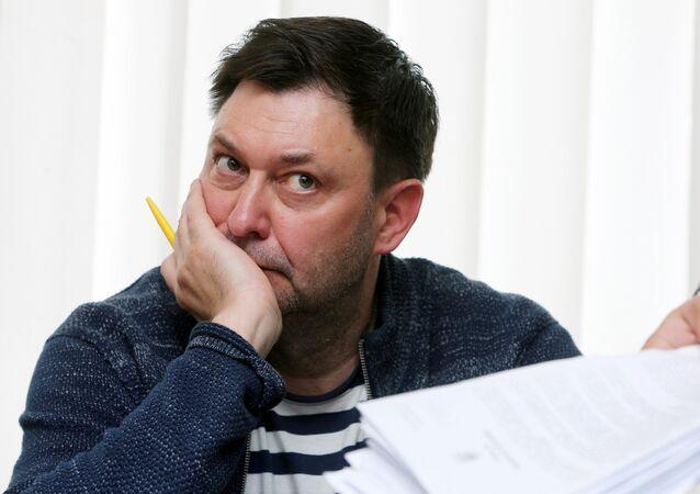 Jornalista Kirill Vyshinsky, diretor da sucursal da RIA Novosti na Ucrânia.