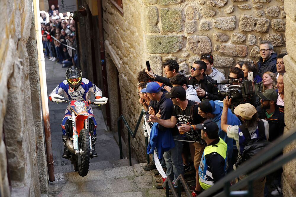 Billy Bolt participa da corrida World Enduro Super Series 2018, em Portugal