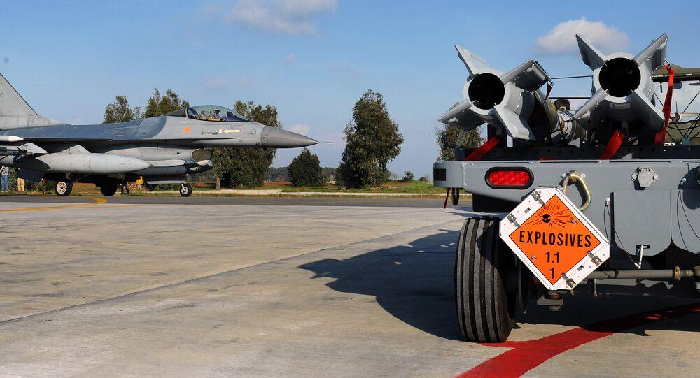 Base aérea de Araxos, Grécia (foto de arquivo)