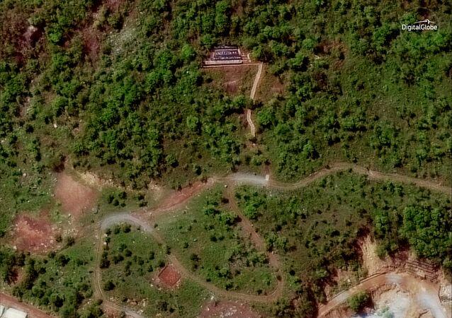 Punggye-ri, zona de testes nucleares da Coreia do Norte
