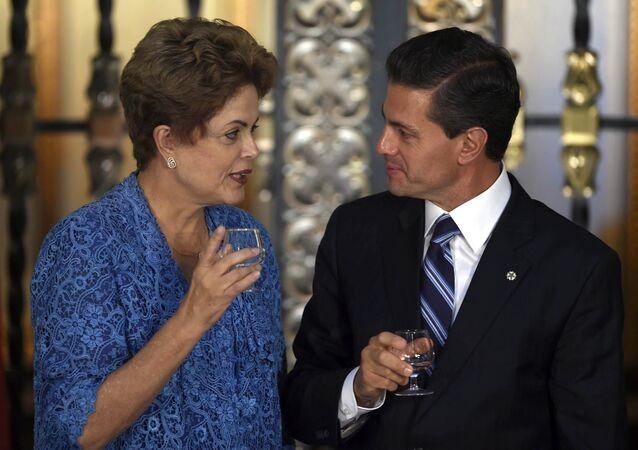 Dilma Rousseff e Enrique Penã Nieto acreditam que o comércio entra Brasil e México pode duplicar nos próximos dez anos