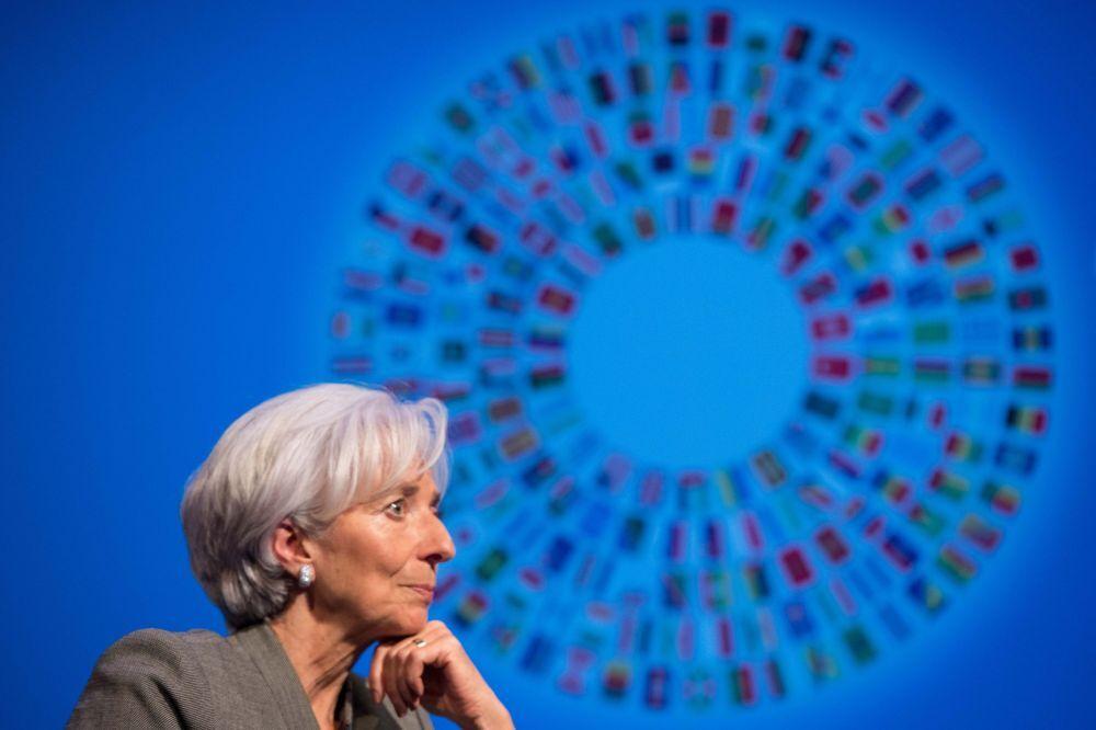 Diretora geral do Fundo Monetário Internacional (FMI) Christine Lagarde participa de uma discussão sobre a economia mundial.