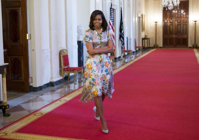 A primeira-dama dos EUA Michelle Obama na Casa Branca.