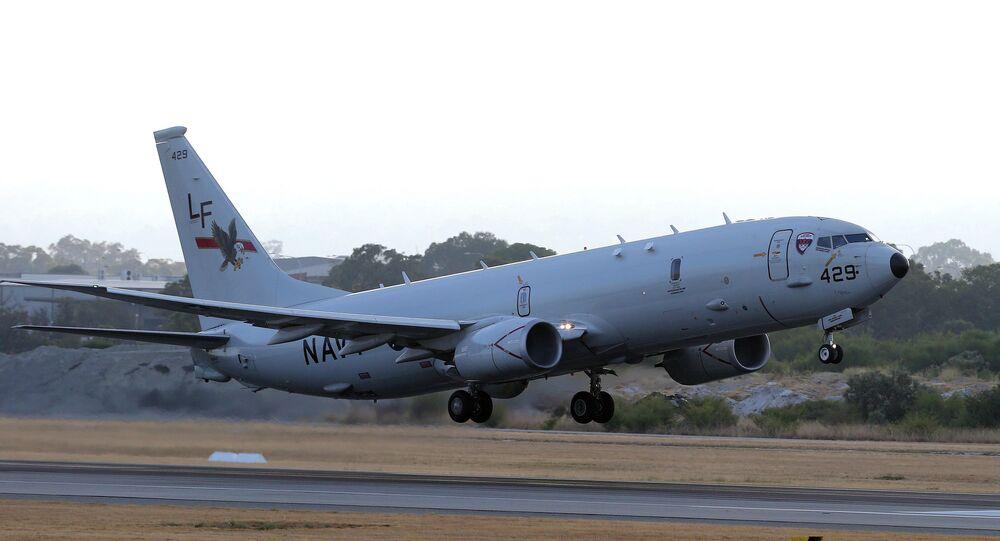 Aeronave P-8 Poseidon da Marinha dos EUA