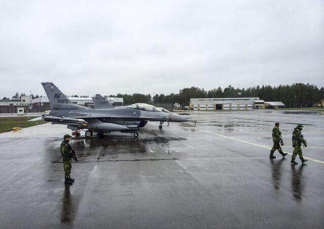 Caça F-16 norte-americano