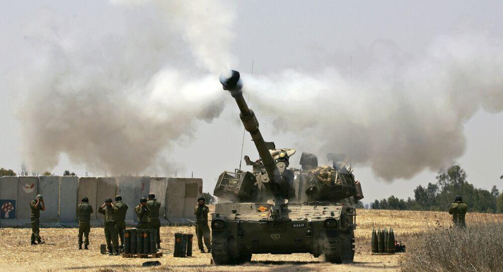 Tanque israelense dispara contra a Faixa de Gaza (foto de arquivo)